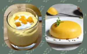 Mango Mouse, Mango Pudding, mango desserts indian, cold mango dessert, ripe mango dessert recipes, easy mango recipes,