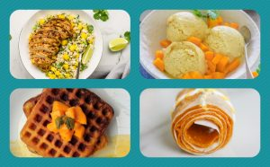 Mango Meals, food items made from mango, how to eat a mango with your hands, mango recipes,